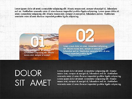 Labels Slide Deck, Slide 3, 03764, Shapes — PoweredTemplate.com