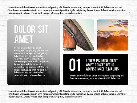 Presentation with Steps, Slide 4, 03765, Presentation Templates — PoweredTemplate.com