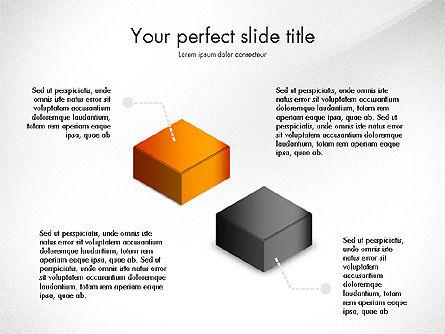 Stacked Shapes, Slide 2, 03768, Shapes — PoweredTemplate.com