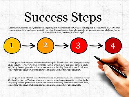 Process Steps, Slide 4, 03773, Process Diagrams — PoweredTemplate.com