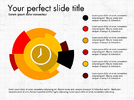Multilevel Pie Chart, 03775, Pie Charts — PoweredTemplate.com