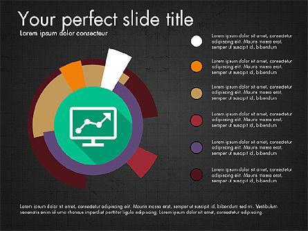 Multilevel Pie Chart, Slide 11, 03775, Pie Charts — PoweredTemplate.com
