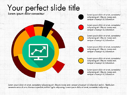 Multilevel Pie Chart, Slide 3, 03775, Pie Charts — PoweredTemplate.com