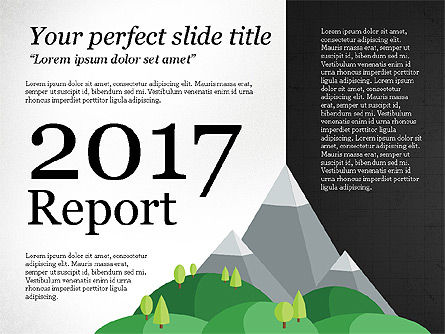 Green Mountains Report, 03779, Presentation Templates — PoweredTemplate.com