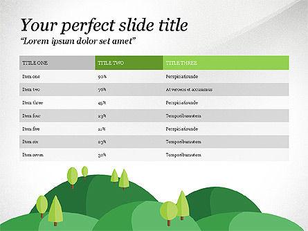 Green Mountains Report, Slide 3, 03779, Presentation Templates — PoweredTemplate.com