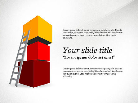 Reaching Goal, 03782, Presentation Templates — PoweredTemplate.com