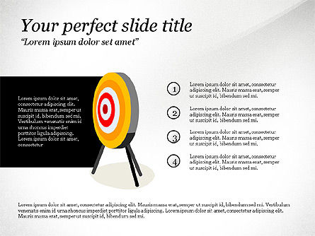 Reaching Goal, Slide 3, 03782, Presentation Templates — PoweredTemplate.com