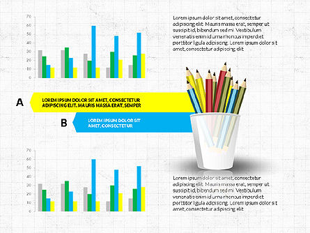 Glass with Colored Pencils, Slide 4, 03787, Infographics — PoweredTemplate.com