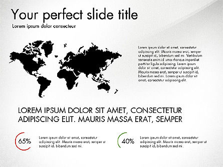 Continents Infographics, Slide 2, 03796, Infographics — PoweredTemplate.com