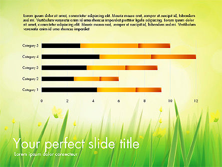 Green Grass Report, Slide 3, 03807, Data Driven Diagrams and Charts — PoweredTemplate.com