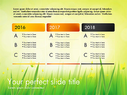 Green Grass Report, Slide 4, 03807, Data Driven Diagrams and Charts — PoweredTemplate.com