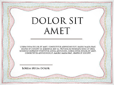 Certificate Frames, Slide 2, 03809, Shapes — PoweredTemplate.com