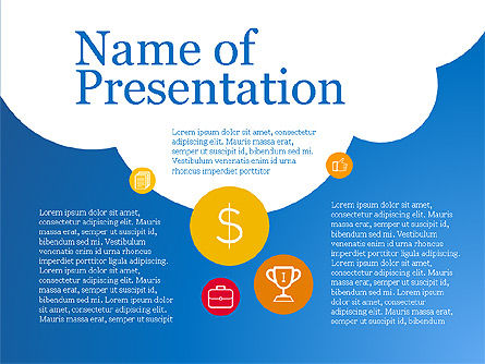 Cloudy Presentation Deck, 03811, Presentation Templates — PoweredTemplate.com