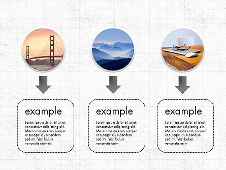 Spots and Arrows, Slide 2, 03813, Process Diagrams — PoweredTemplate.com
