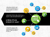Infographics: Concept d'infographie de processus d'innovation #03814