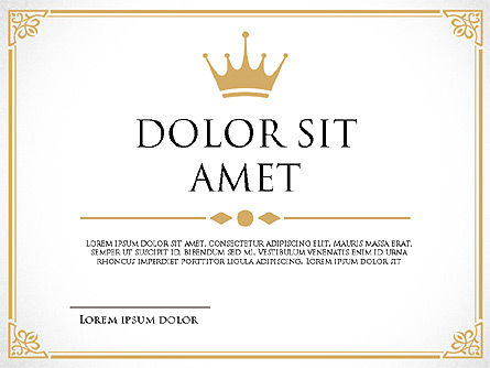 Diploma Certificate Frames, Slide 2, 03822, Shapes — PoweredTemplate.com
