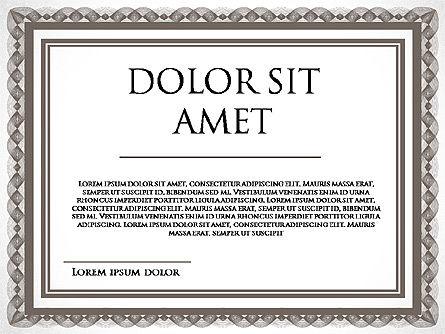 Diploma Certificate Frames, Slide 4, 03822, Shapes — PoweredTemplate.com