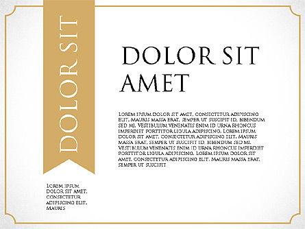 Diploma Certificate Frames, Slide 5, 03822, Shapes — PoweredTemplate.com