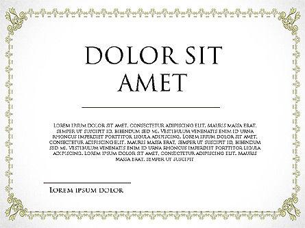 Diploma Certificate Frames, Slide 7, 03822, Shapes — PoweredTemplate.com