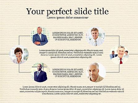 Personnel Efficiency, Slide 8, 03825, Organizational Charts — PoweredTemplate.com