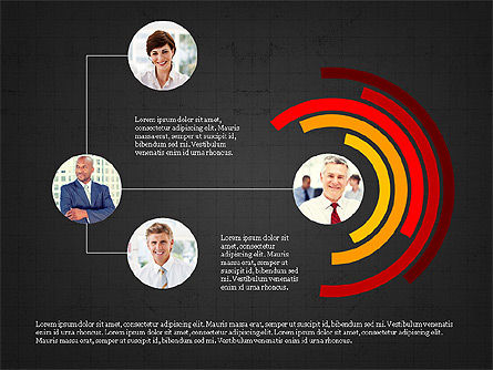 Personnel Efficiency, Slide 9, 03825, Organizational Charts — PoweredTemplate.com