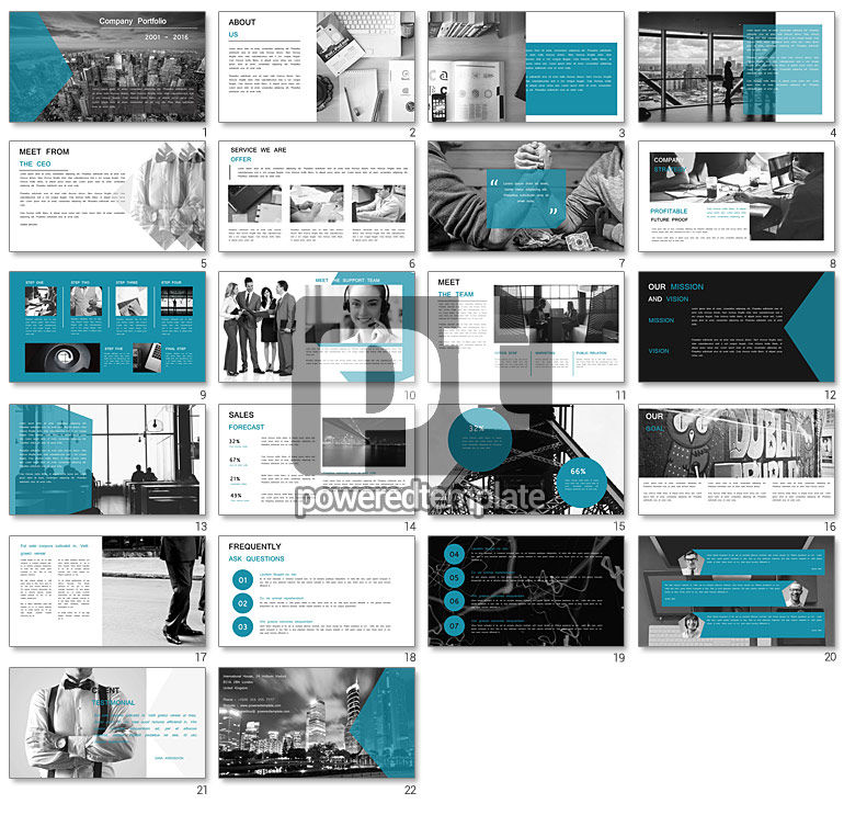minimalist company profile presentation for powerpoint, Presentation templates