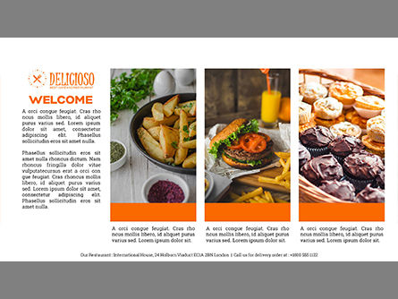 Restaurant Catalog Presentation Template, Slide 2, 03836, Presentation Templates — PoweredTemplate.com