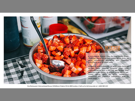 Restaurant Catalog Presentation Template, Slide 3, 03836, Presentation Templates — PoweredTemplate.com