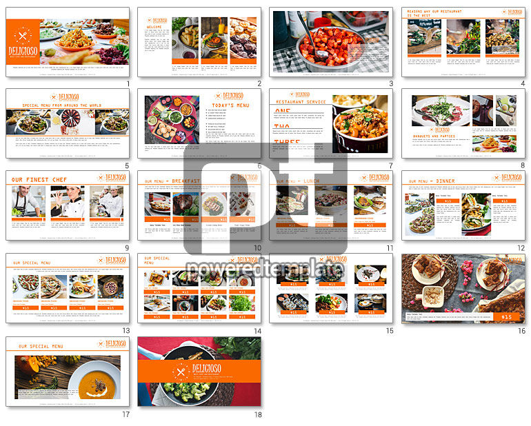 Restaurant Catalog Presentation Template