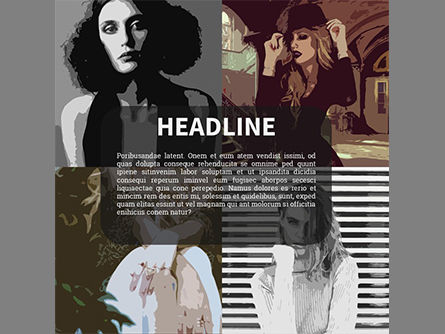 Fashion Showbook Brochure, Slide 4, 03837, Presentation Templates — PoweredTemplate.com