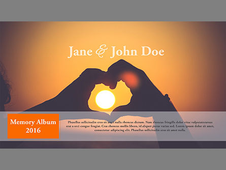 Presentation Templates: Wedding Photo Album Brochure Template #03838