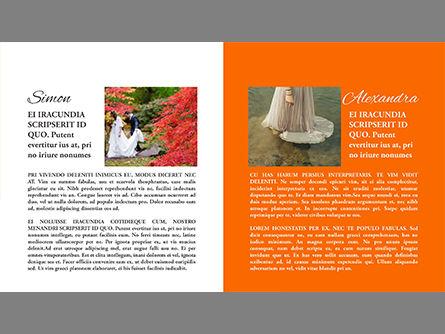Wedding Photo Album Brochure Template, Slide 4, 03838, Presentation Templates — PoweredTemplate.com
