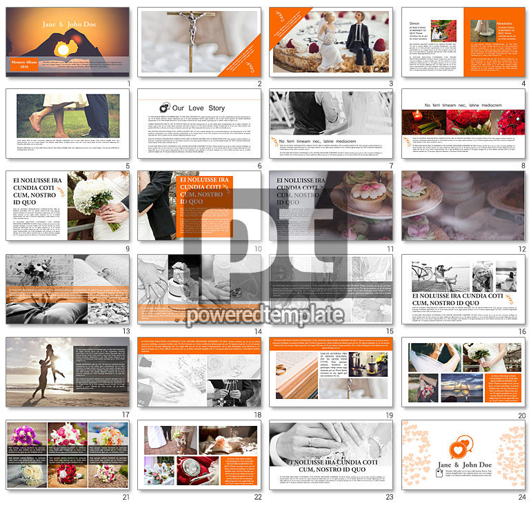 Wedding Photo Album Brochure Template