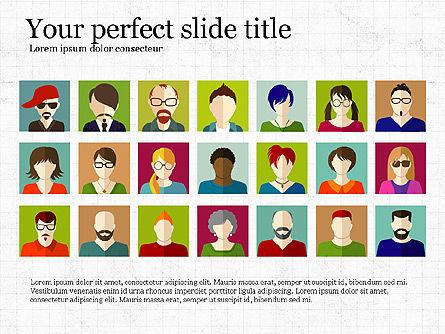 Human Resources Slide Deck, 03842, Shapes — PoweredTemplate.com
