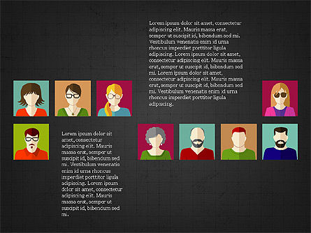 Human Resources Slide Deck, Slide 13, 03842, Shapes — PoweredTemplate.com