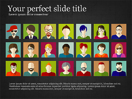 Human Resources Slide Deck, Slide 9, 03842, Shapes — PoweredTemplate.com