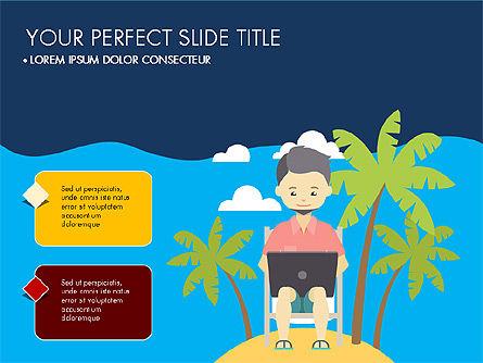 Beach Vacation Slide Deck, Slide 12, 03843, Presentation Templates — PoweredTemplate.com