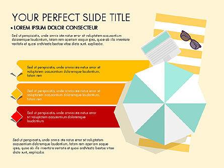 Beach Vacation Slide Deck, Slide 3, 03843, Presentation Templates — PoweredTemplate.com
