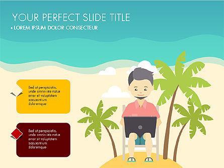 Beach Vacation Slide Deck, Slide 4, 03843, Presentation Templates — PoweredTemplate.com