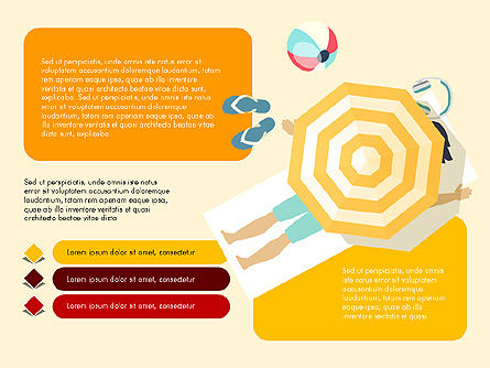 Beach Vacation Slide Deck, Slide 6, 03843, Presentation Templates — PoweredTemplate.com