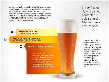 Beer Infographics Presentation Deck, 03844, Infographics — PoweredTemplate.com