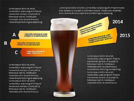 Beer Infographics Presentation Deck, Slide 10, 03844, Infographics — PoweredTemplate.com