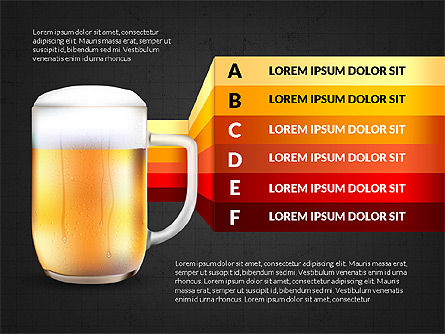 Beer Infographics Presentation Deck, Slide 12, 03844, Infographics — PoweredTemplate.com