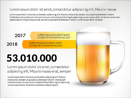 Beer Infographics Presentation Deck, Slide 8, 03844, Infographics — PoweredTemplate.com