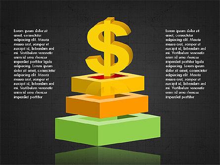 3D Compound Shapes Slide Deck, Slide 12, 03847, Shapes — PoweredTemplate.com