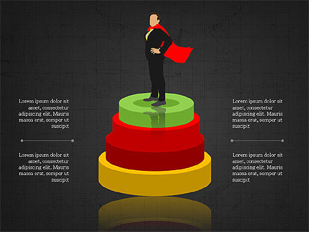 3D Compound Shapes Slide Deck, Slide 15, 03847, Shapes — PoweredTemplate.com