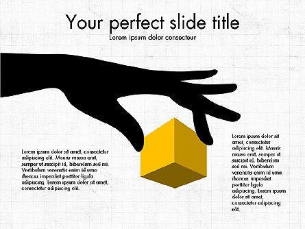 3D Compound Shapes Slide Deck, Slide 8, 03847, Shapes — PoweredTemplate.com