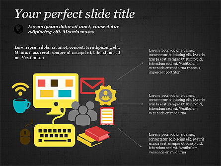 Illustrative Presentation Template, Slide 11, 03851, Presentation Templates — PoweredTemplate.com