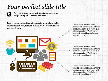Illustrative Presentation Template, Slide 3, 03851, Presentation Templates — PoweredTemplate.com