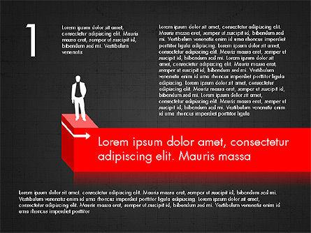 Career Steps Diagram Concept, Slide 10, 03852, Stage Diagrams — PoweredTemplate.com